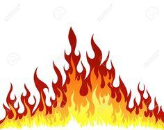 Cartoon fire flames panda. Characters clipart flame