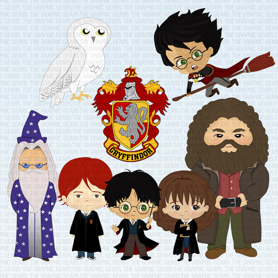 Character clipart harry potter. Characters