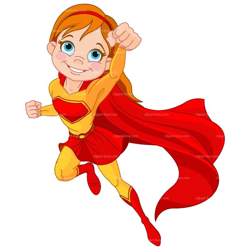 Super girl art work. Hero clipart red superhero