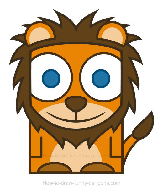 lions clipart simple