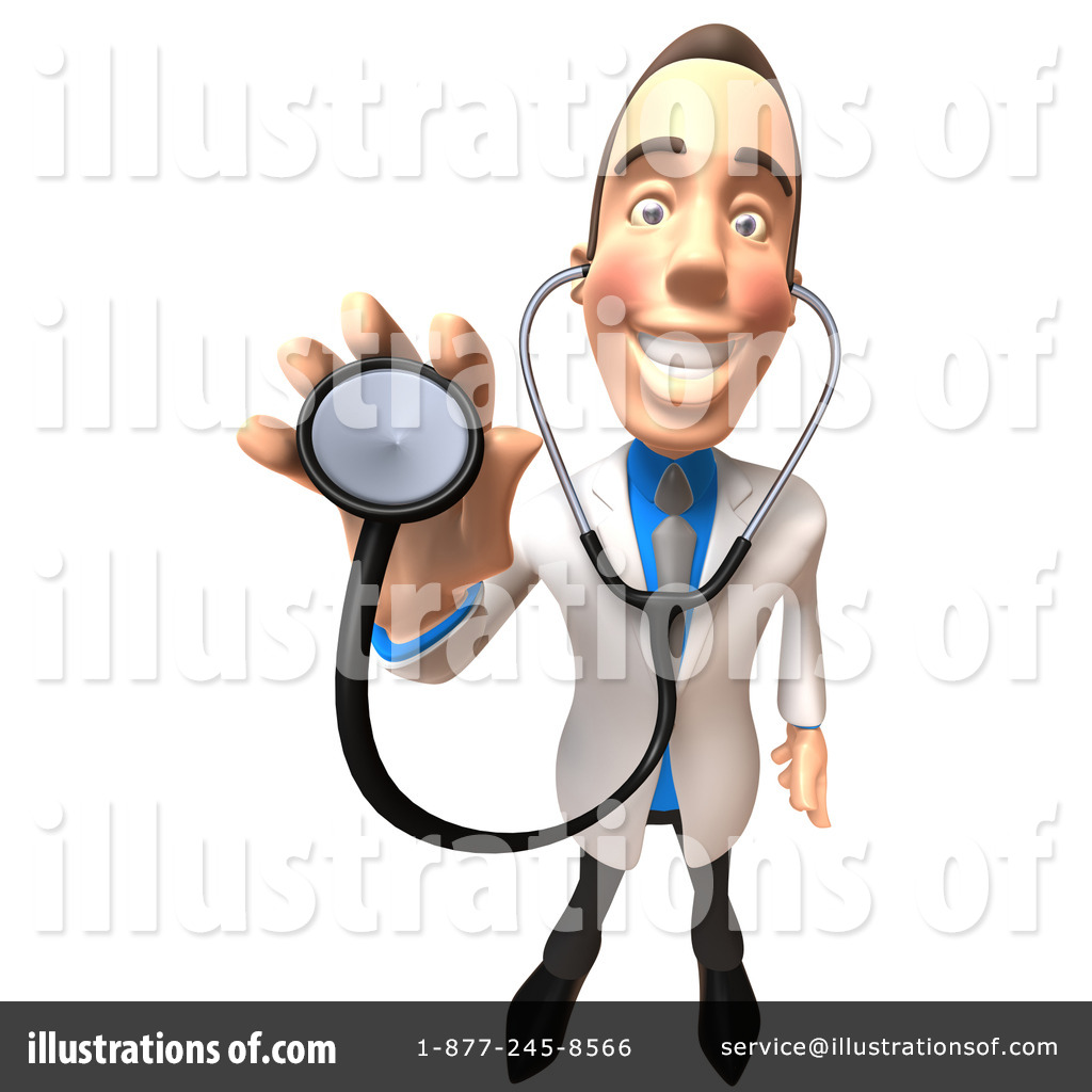 White doctor illustration by. Character clipart male