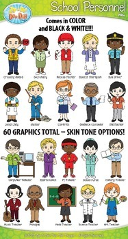 School personnel characters zip. Character clipart male