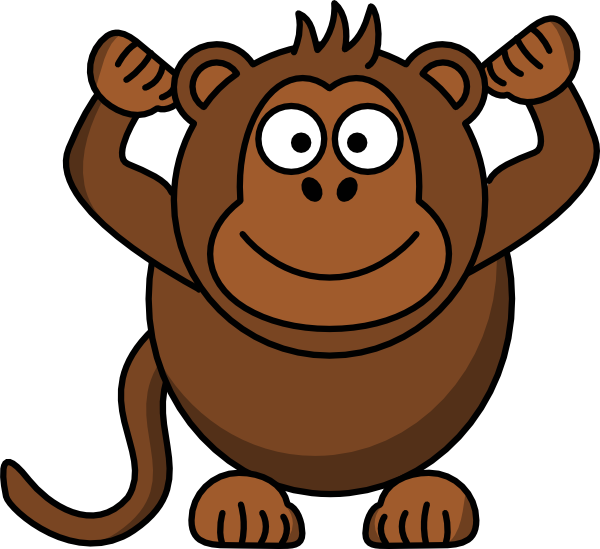 Clip art at clker. Monkey clipart outline