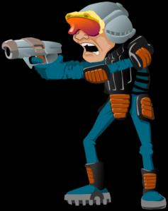 Cartoon man clip art. Character clipart sci fi