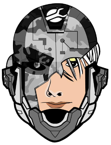 Character clipart sci fi. Science fiction face clip