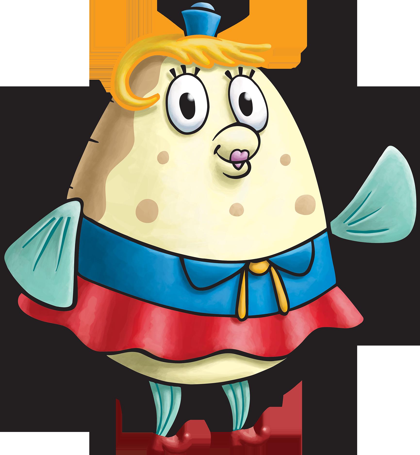 Name clipart character. Image spongebob squarepants mrs