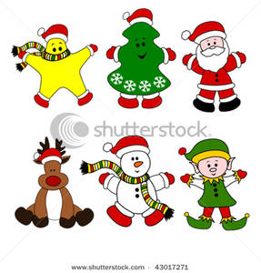 Characters clipart xmas, Characters
