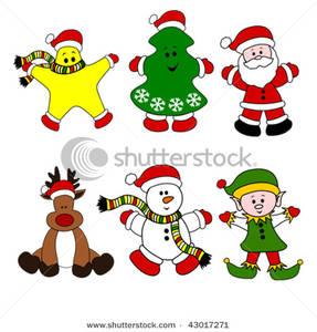 Christmas . Characters clipart xmas