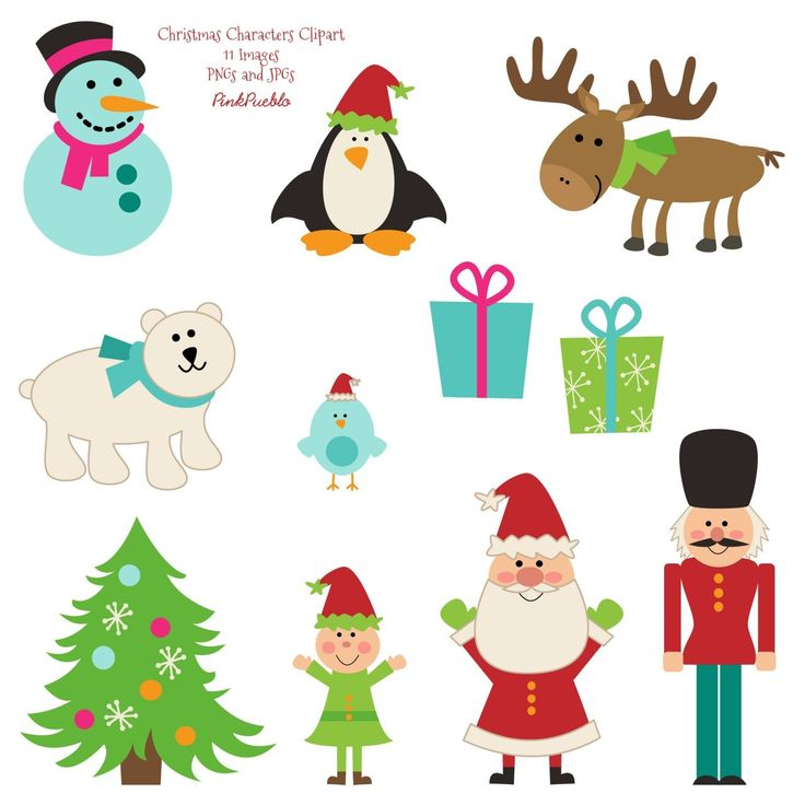 Free pictures of christmas. Characters clipart xmas