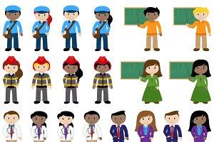 Characters clipart. Career vectors illustrations creative