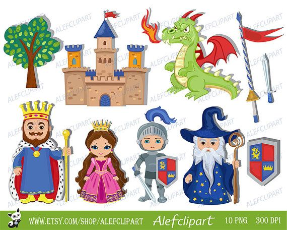 best fairy tales. Characters clipart