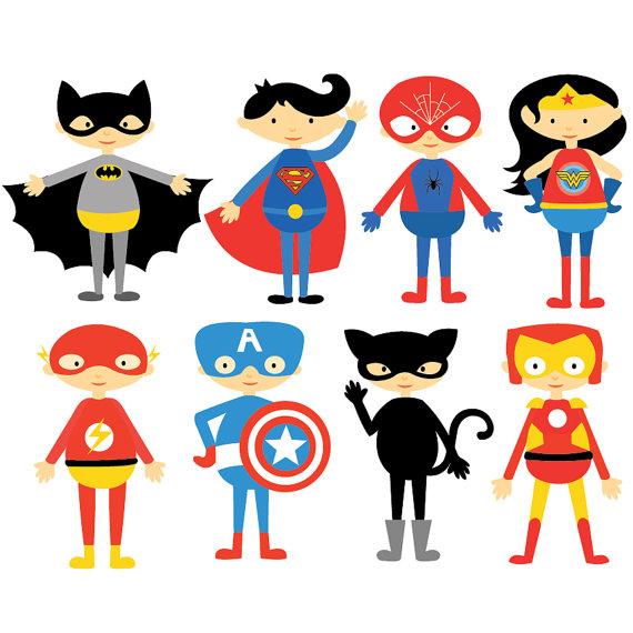 Characters clipart. Items similar to superhero