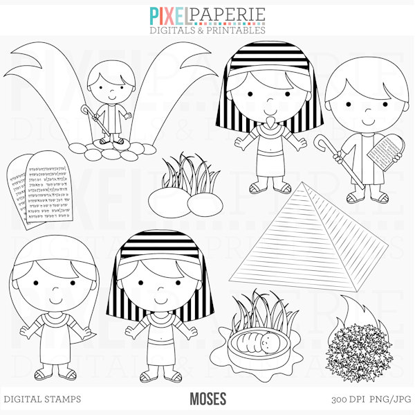 Bible christian stamps clip. Characters clipart black and white