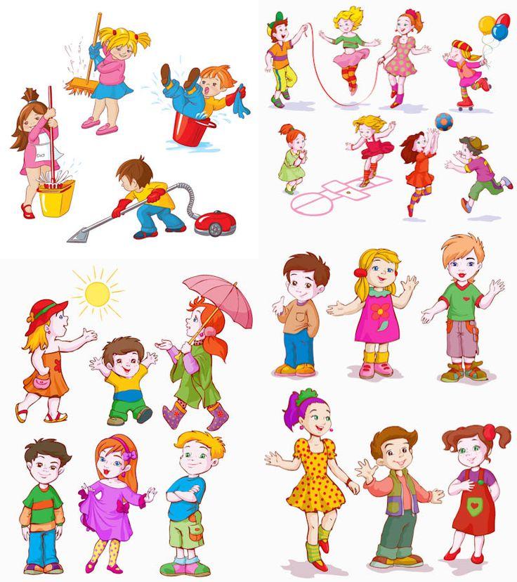best cartoon kids. Characters clipart children's