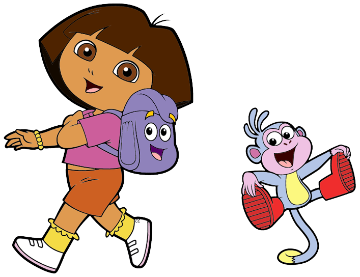Clipart map explorer. Dora the clip art