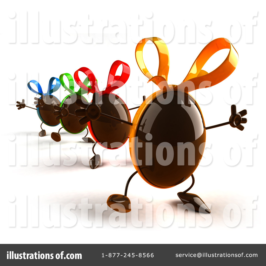Characters clipart easter. Chocolate egg illustration by