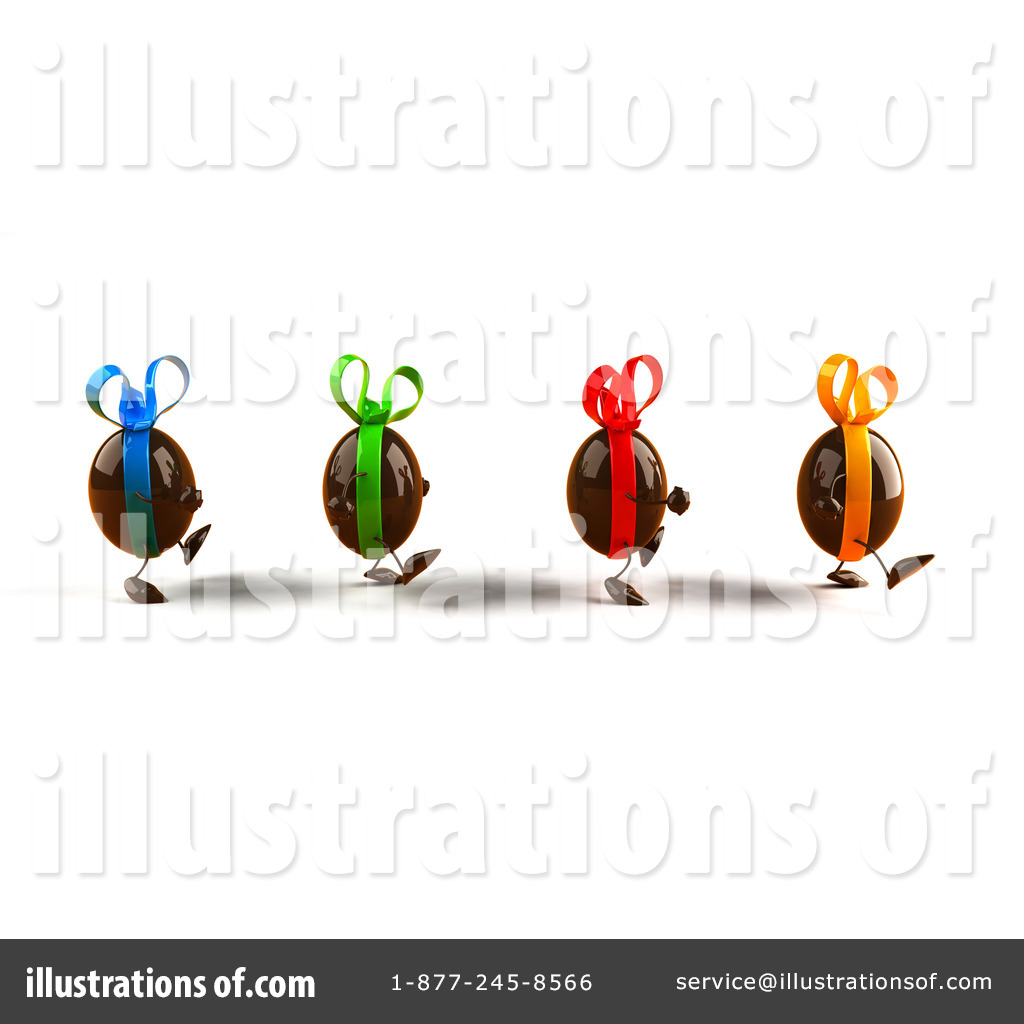 Chocolate egg illustration by. Characters clipart easter