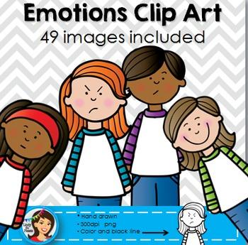 Kids diverse . Emotions clipart clip art kid