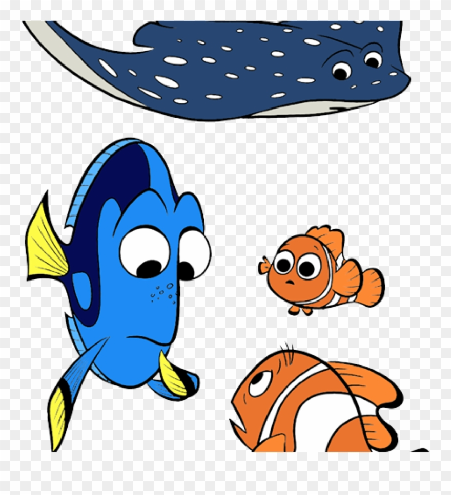 Finding characters . Dory clipart nemo friend