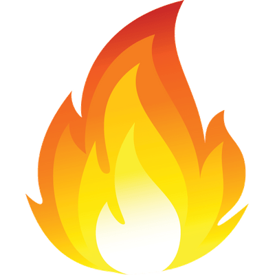 Characters clipart flame. Single fire transparent png