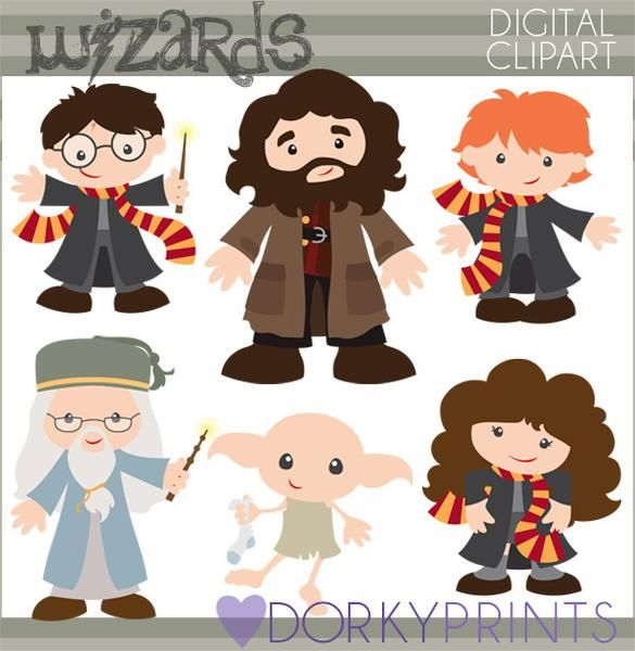 Character clipart harry potter. Wizards characters and fans