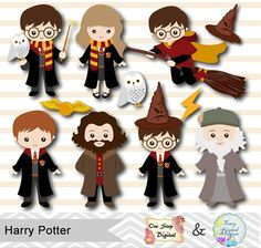 Wizards character and fans. Characters clipart harry potter