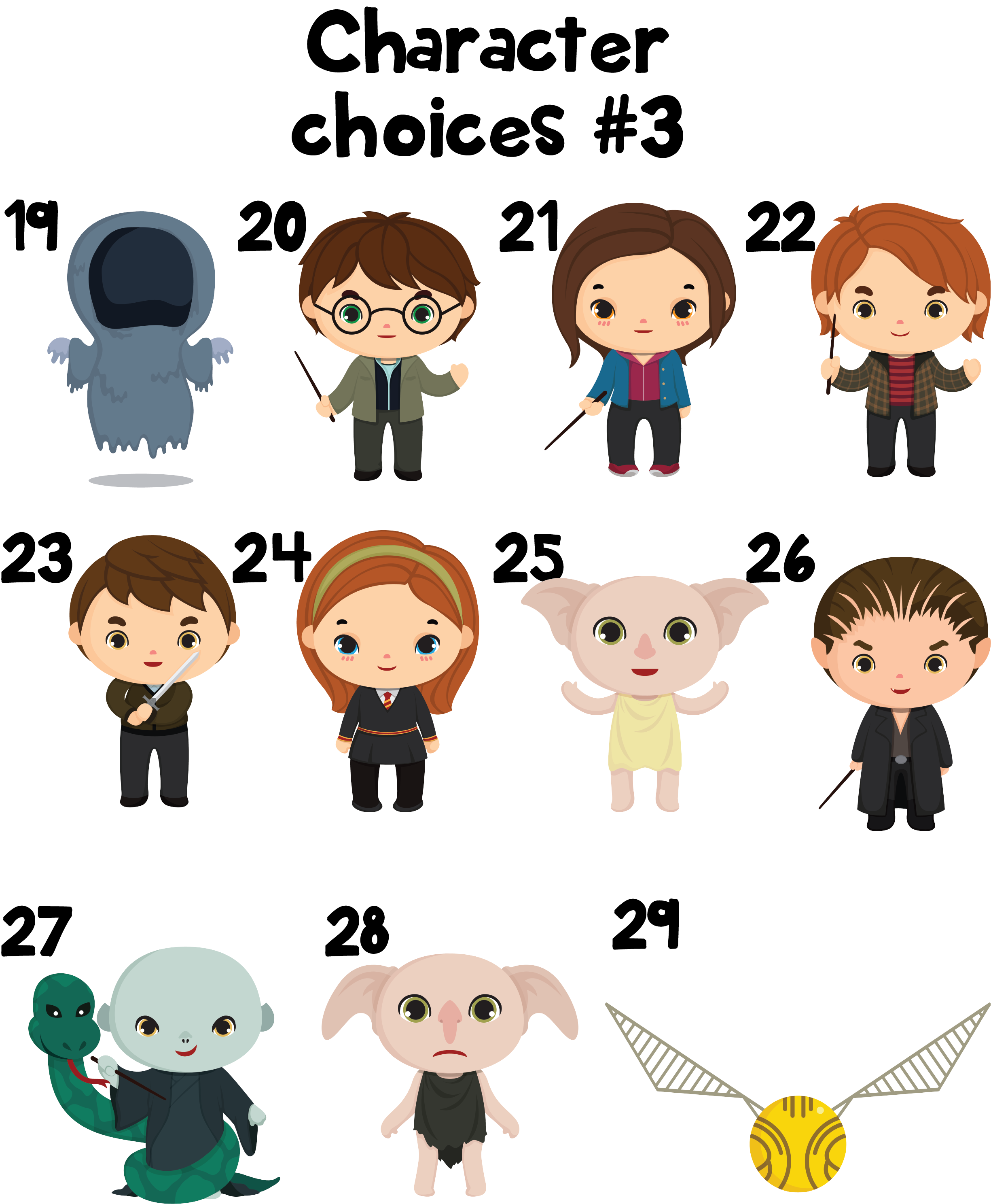 Ornament family the printed. Character clipart harry potter