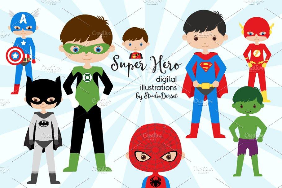 Super . Characters clipart hero