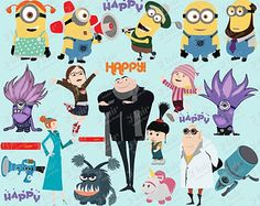 I googled svg files. Characters clipart minions