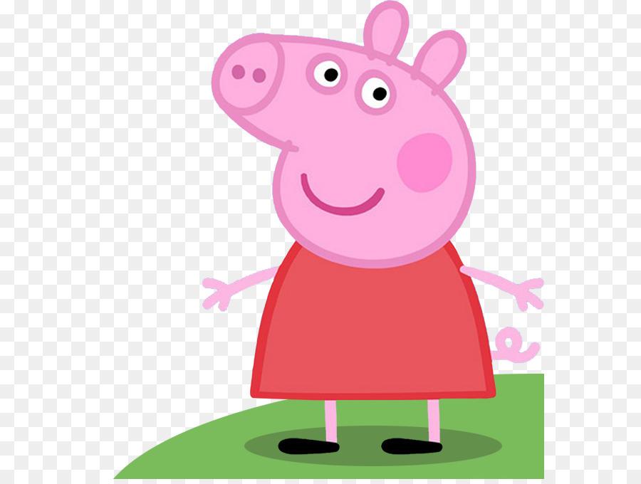 Cartoon pink transparent clip. Clipart pig character