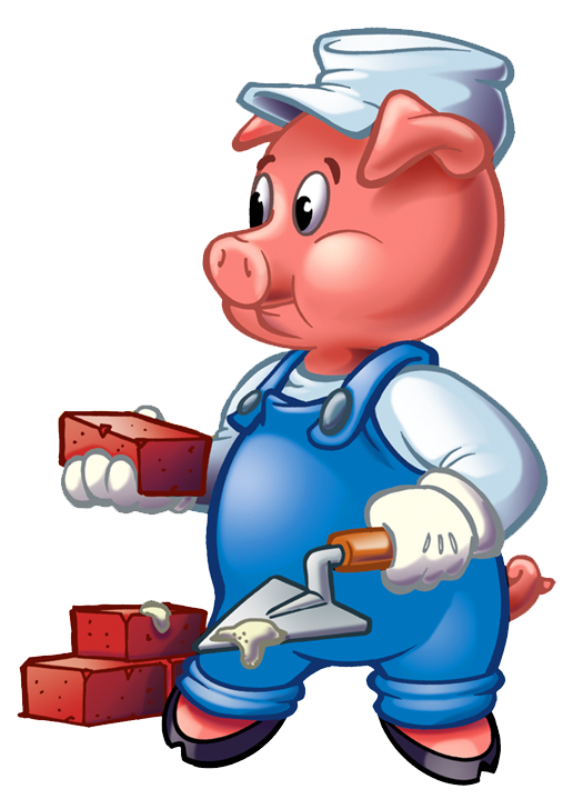 Three little pigs clip. Clipart halloween pig