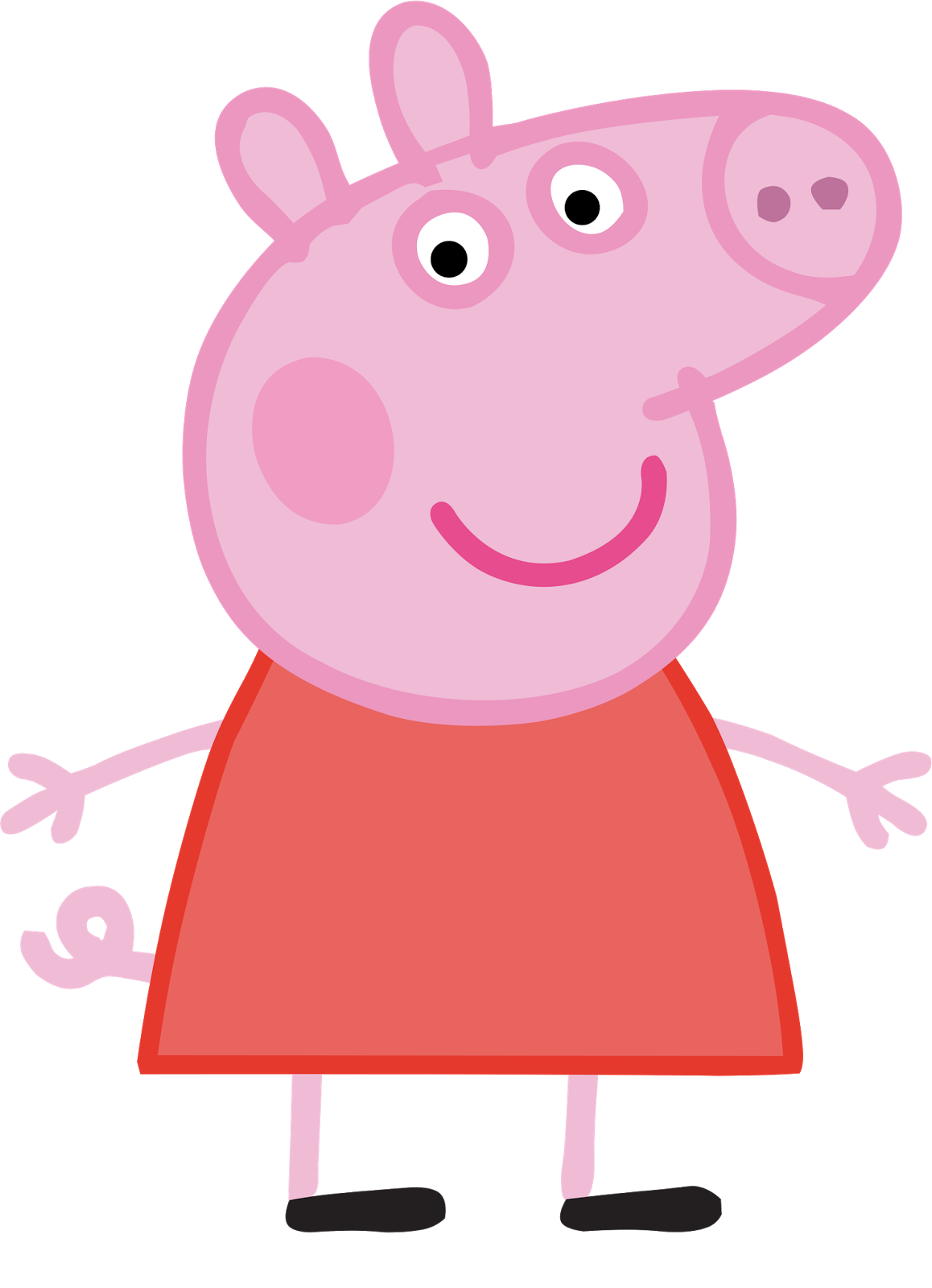 Cartoon characters peppa png. Clipart halloween pig