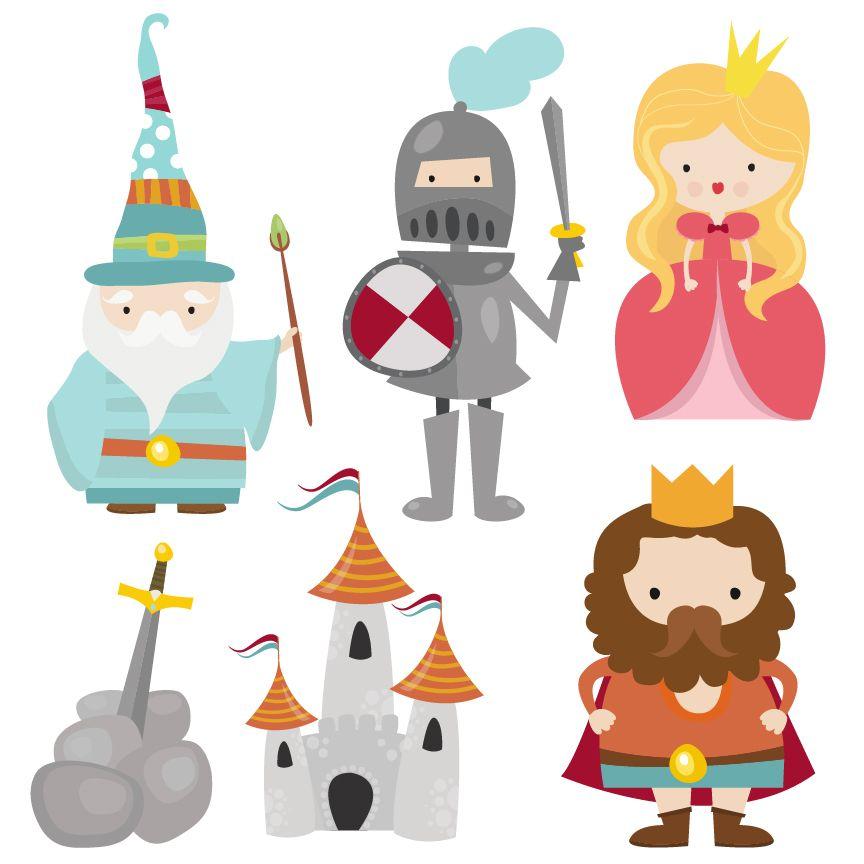 Characters clipart. A cute camelot set