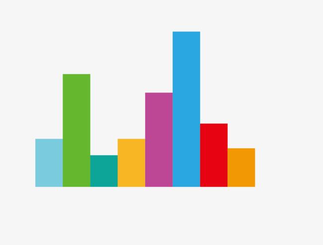 Chart clipart bar chart. Color data graph decoration