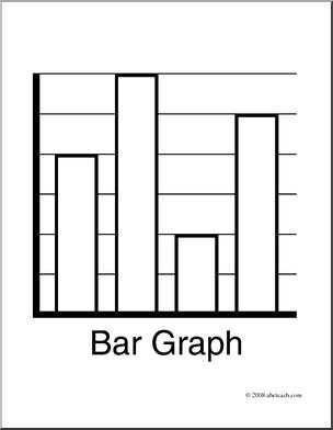 Chart clipart black and white. Bar graph clip art