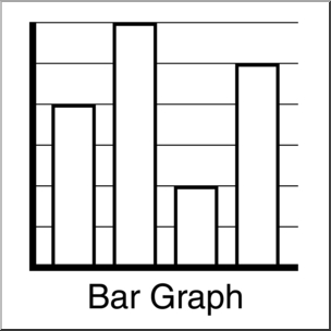 Clip art graphing bar. Chart clipart black and white