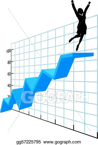 Vector stock person up. Chart clipart business
