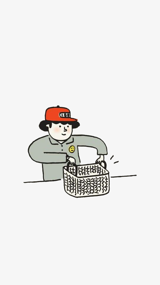 Red hat cashier curly. Chart clipart cartoon