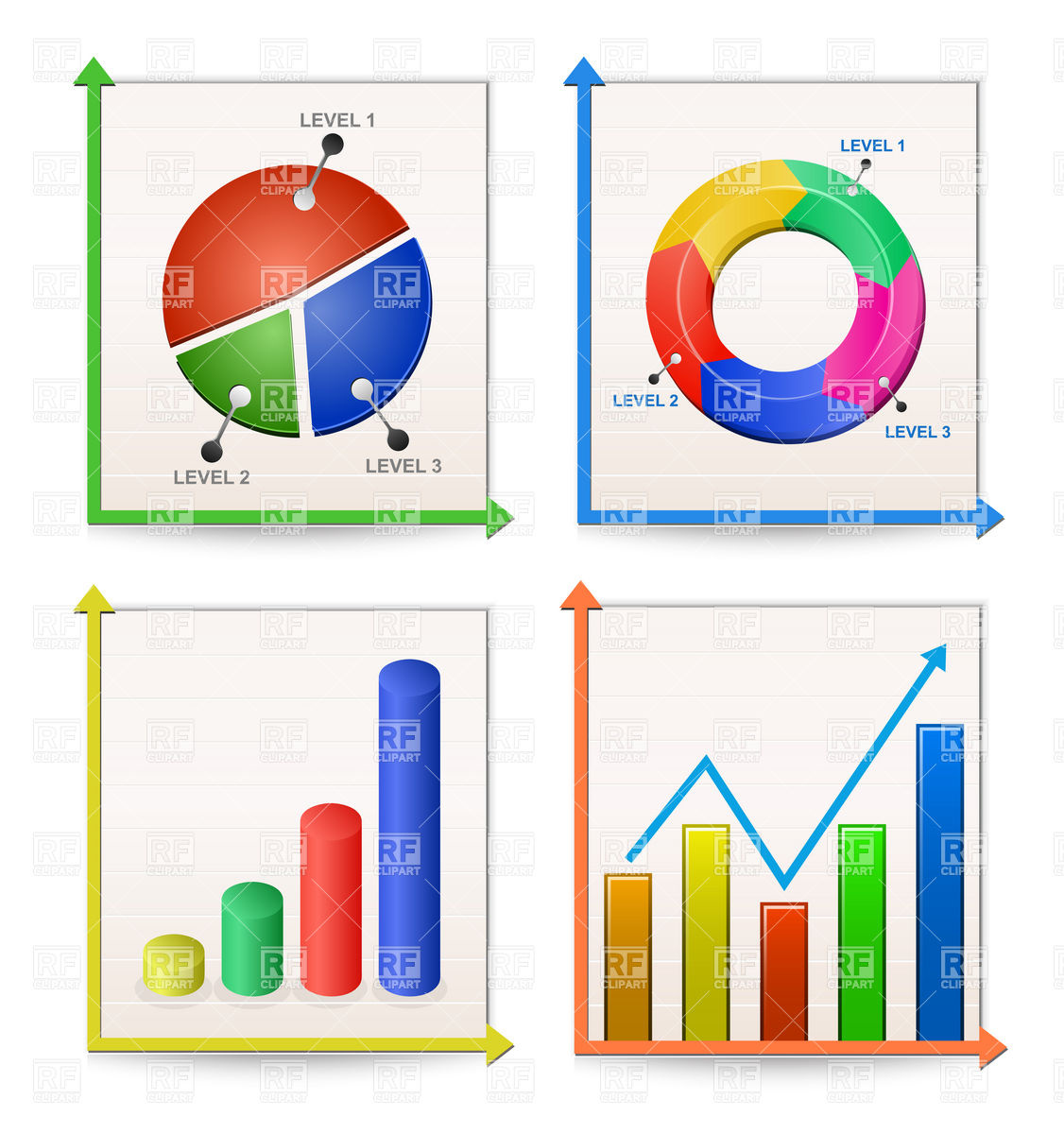 Charts and graphs clip. Graph clipart data presentation