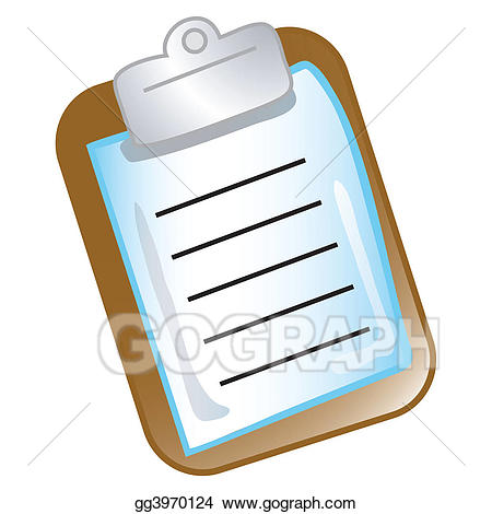 Chart clipart clipboard. Stock illustrations icon