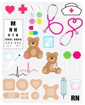 Chart clipart cute. School nurse hat stethoscope