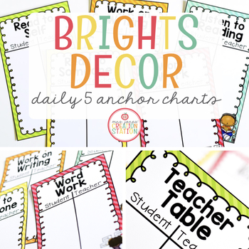 Chart clipart daily. Five anchor charts by