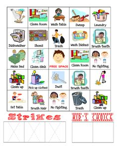 Routine charts for kids. Chart clipart daily