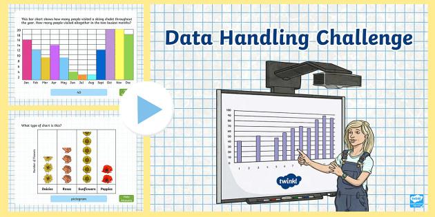 Challenge powerpoint maths mathematics. Chart clipart data handling