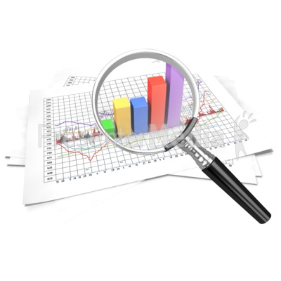 Chart clipart data handling. Financial zoom in magnify