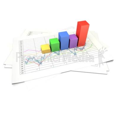 Block pie chart panda. Graph clipart data sheet