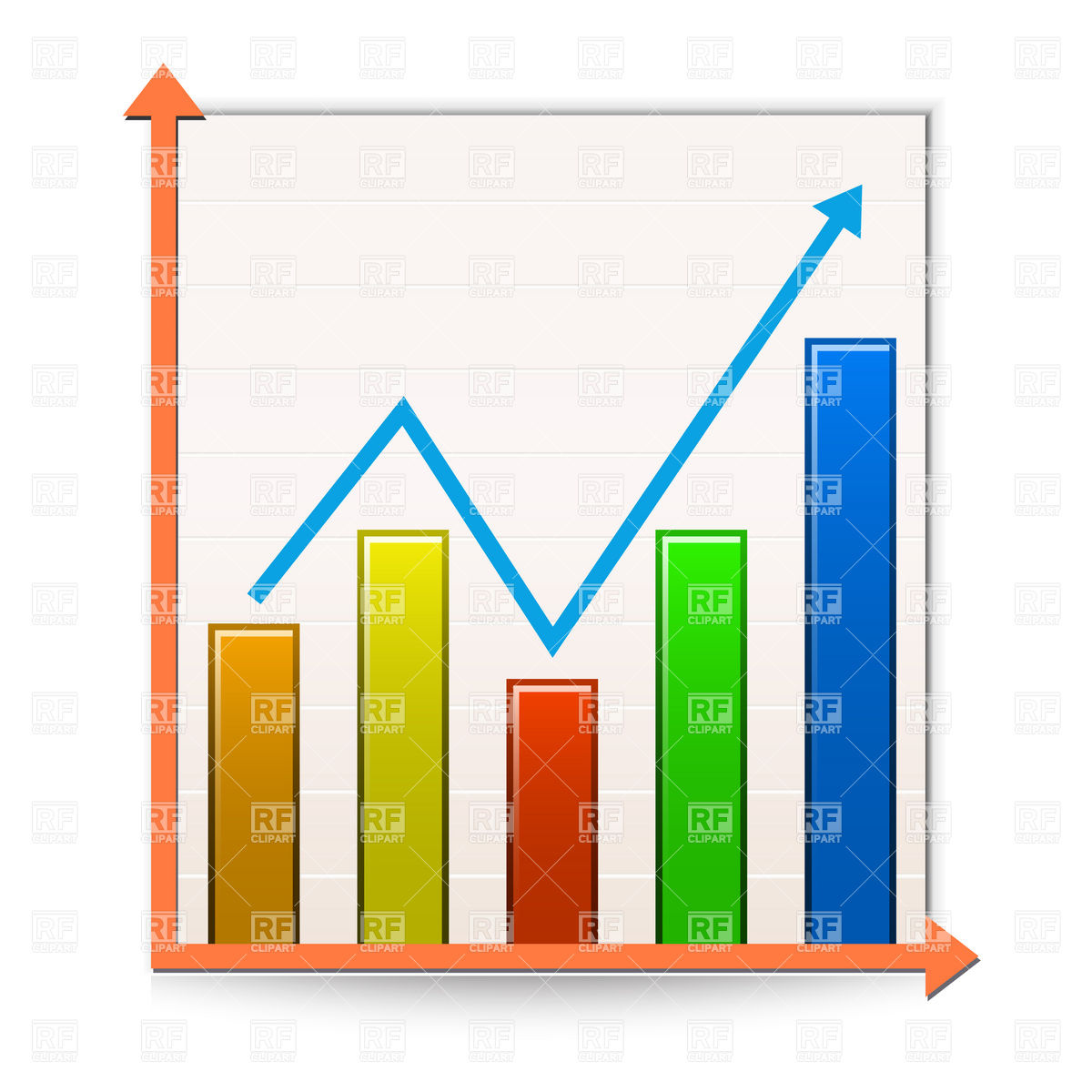 Graph clipart financial graph. Bar collection statistical increasing