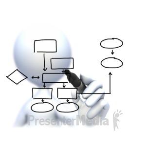 Flow a powerpoint template. Chart clipart diagram
