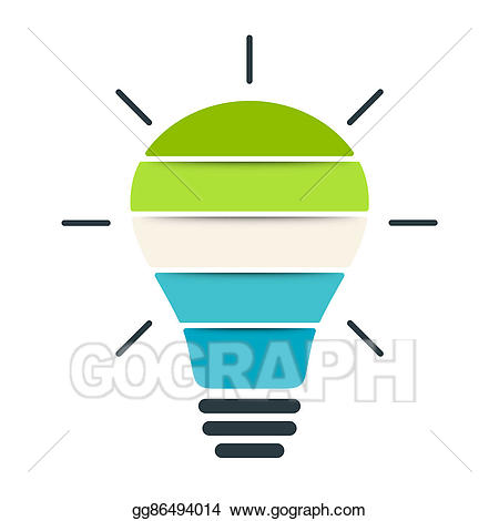 Stock illustration light bulb. Chart clipart diagram