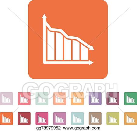 Chart clipart downward. Vector illustration the graph
